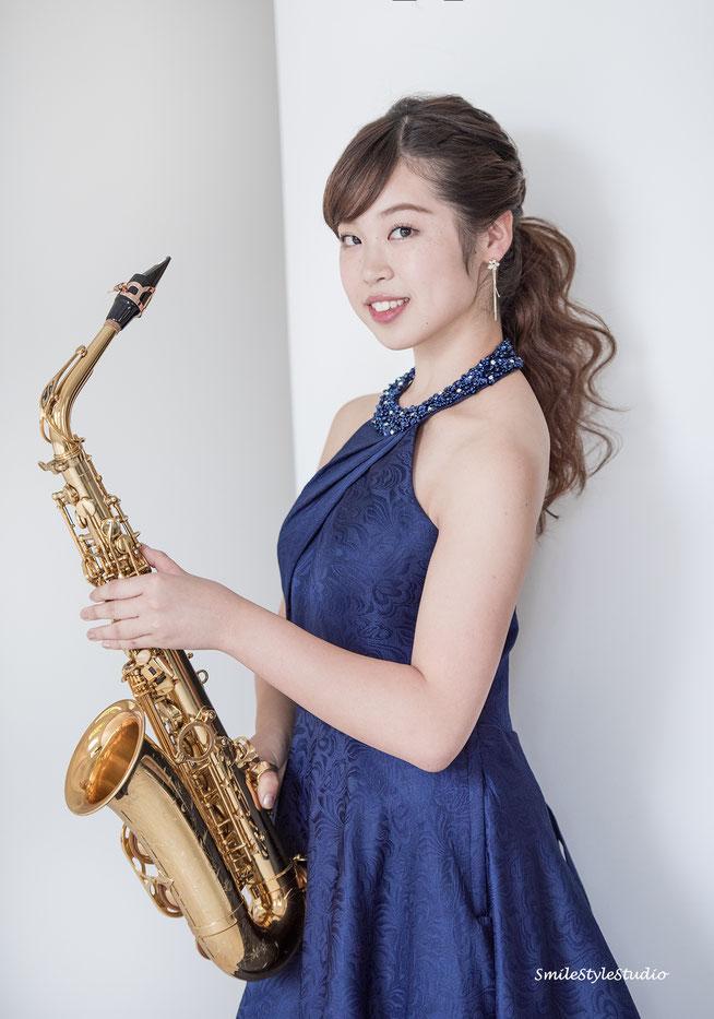 saxophone Yui Kitanohara   カメラHibiki ヘアメイクKana    NikonD810   2017.10.14 雨 自然光
