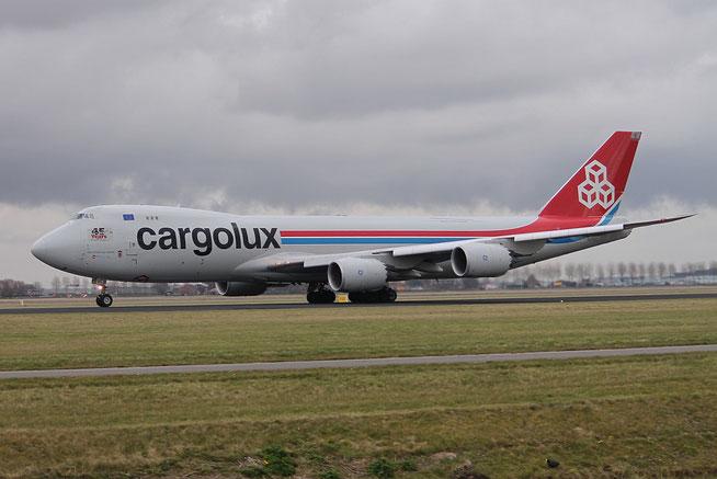 """B 747-8R7F  """" LX-VCB """"  Cargolux -1"""