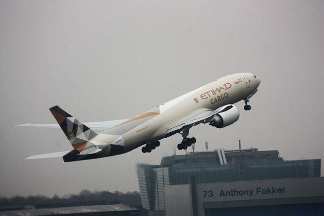 """B 777-FFX  """" A6-DDE """"   Ethiad Cargo -1"""
