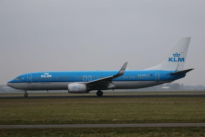 """B 737-8K2/W """" PH-BXG """" KLM -1"""