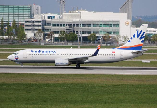 "B 737-8HC/W "" TC-SNG "" Sun Expres -2"