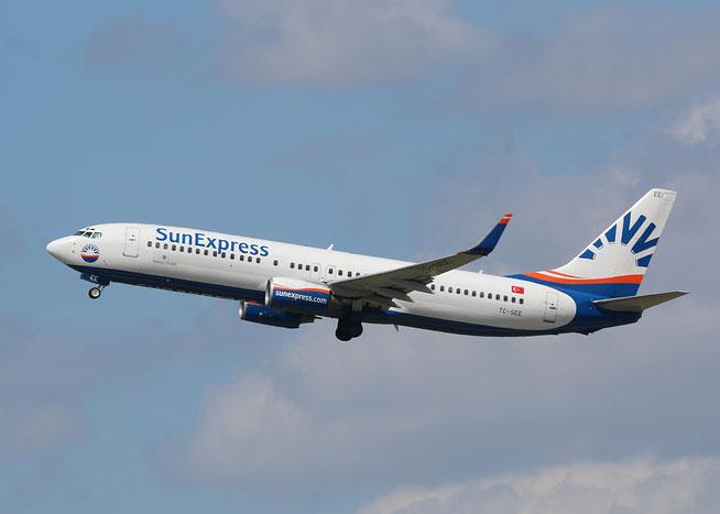 """B 737-8CX/W  """" TC-SEE """" SunExpress -1"""