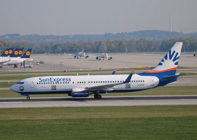 "B 737-8AS/W "" D-ASXF "" SunExpress Germany -1"
