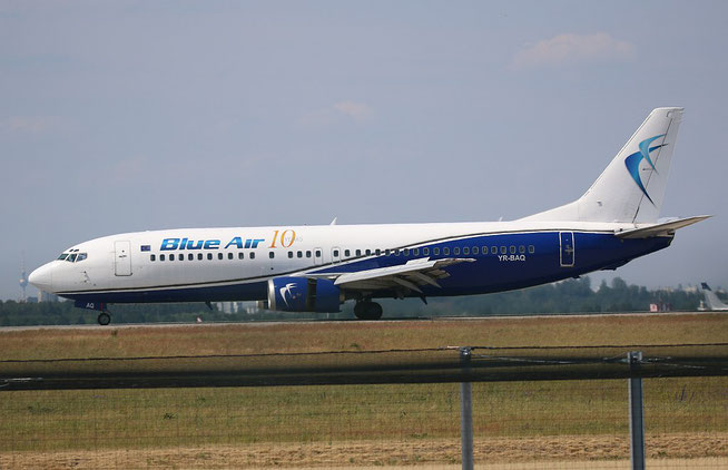 "B 737-4D7  "" YR-BAQ ""  Blue Air -1"