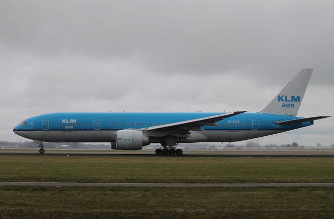 """B 777-206ER  """" PH-BQK """"  KLM Royal Dutch Airlines -1"""