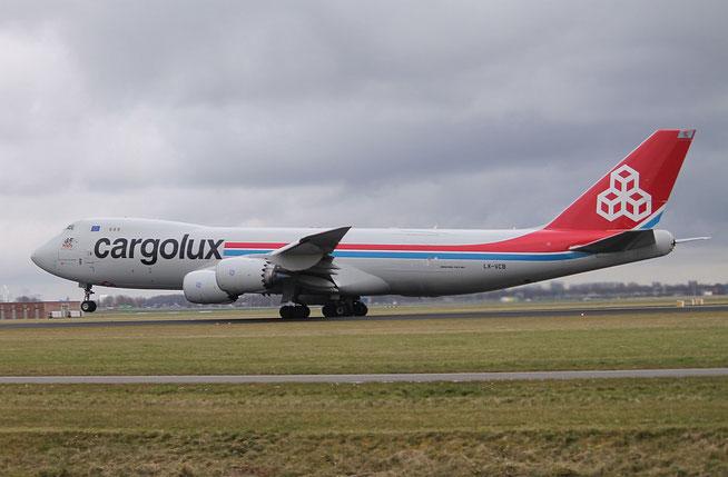 """B 747-8R7F  """" LX-VCB """"  Cargolux -2"""