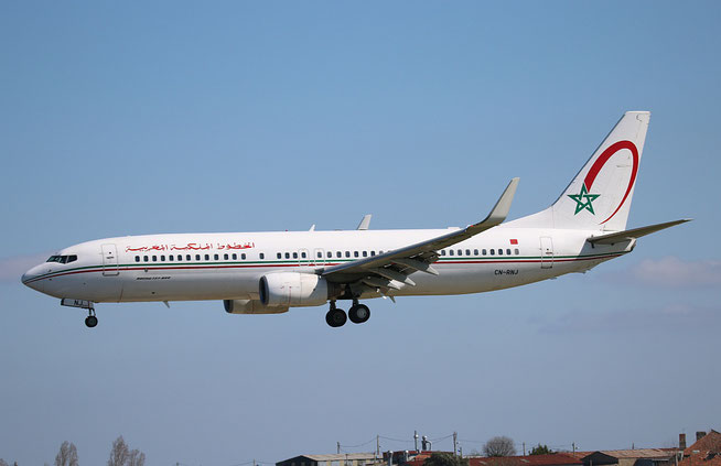 "B 737-8B6/W  "" CN-RNJ "" Royal Air Maroc -1"