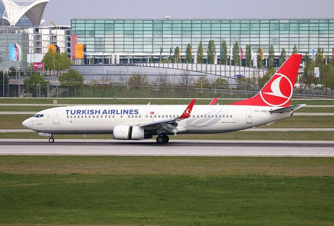 """B 737-8F2/W """" TC-JHU """" Turkish Airlines -1"""