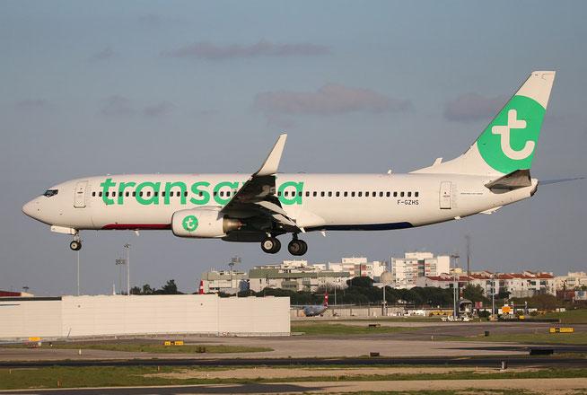 """B 737-84P/W  """" F-GZHS """" Transavia France -1"""