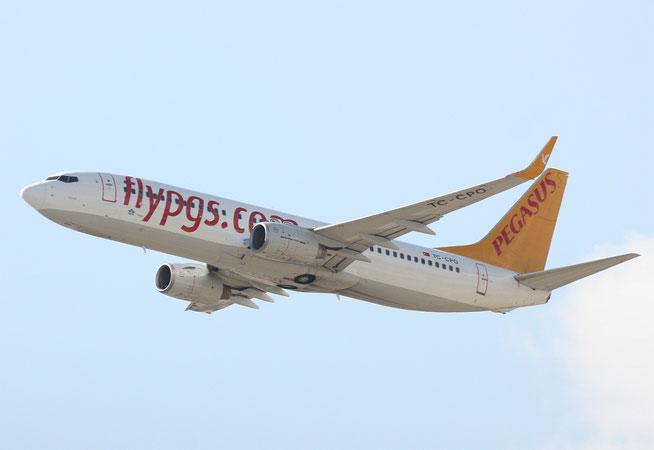 """B 737-8AS/W """" TC-CPO """" Pegasus Airline -1"""