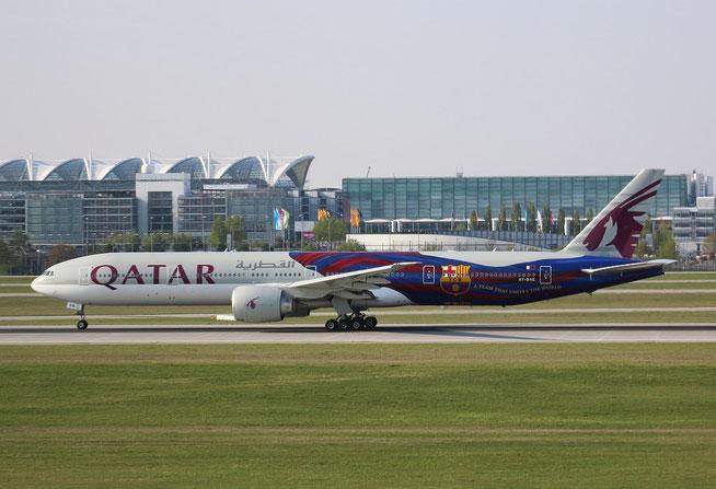 "B 777-3DZER "" A7-BAE "" Qatar Airways -3"