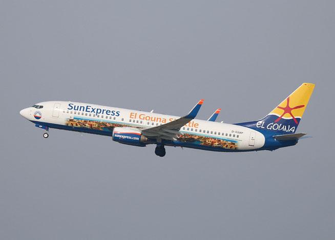 """B 737-8HX(W) """" D-ASXP """" SunExpress Germany -2"""