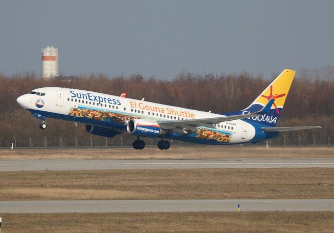 """B 737-8HX(W) """" D-ASXP """" SunExpress Germany -1"""