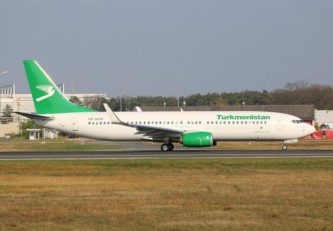 """B 737-82K/WL  """" EZ-A019 """" Turkmenistan Airlines -2"""