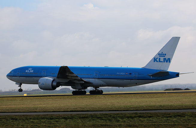"B 777-206ER  "" PH-BQA ""  KLM Royal Dutch Airlines -1"