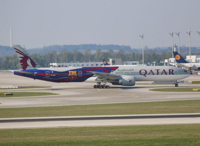 "B 777-3DZER "" A7-BAE "" Qatar Airways -1"