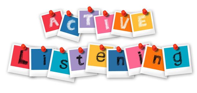 active listening, Buchstaben