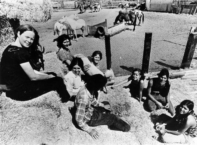 1970年当時のスパーン牧場。