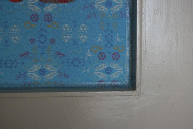 Befestigung mit Nashi Tape direkt auf der Tür