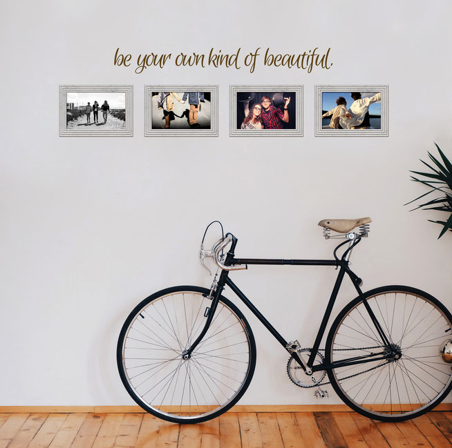 Be your own kind of beautiful wall art quote for girl's bedrooms and bathrooms from www.wallartcompany.co.uk