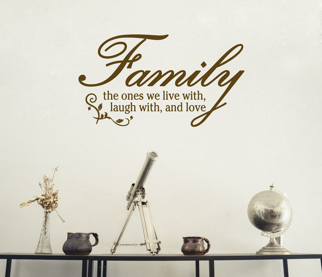 Family the ones we live with, laugh with, and love wall art sticker. From wallartcompany.co.uk