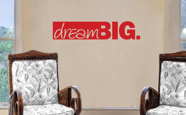 Dream big vinyl wall art quote From wallartcompany.co.uk