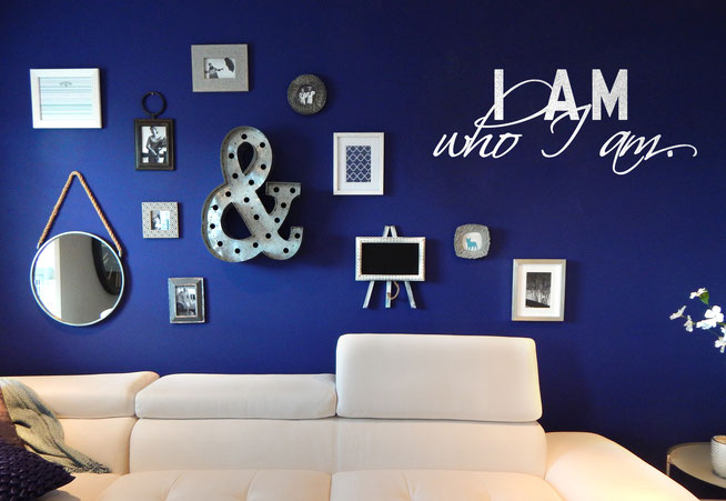 I am who I am vinyl wall art quote from www.wallartcompany.co.uk