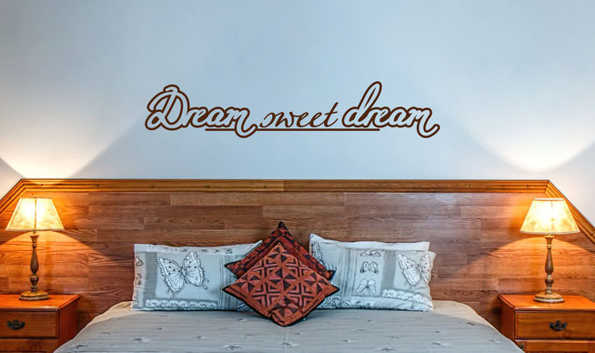 Dream sweet dream vinyl wall art sticker From wallartcompany.co.uk