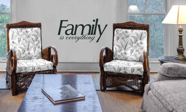 Family is everything vinyl wall art sticker for home decorating. From wallartcompany.co.uk