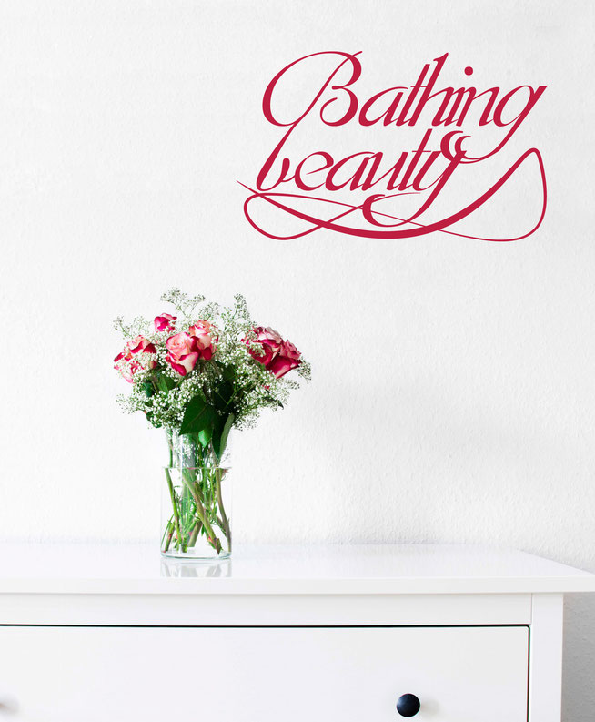 Bathing Beauty quote wall art sicker.