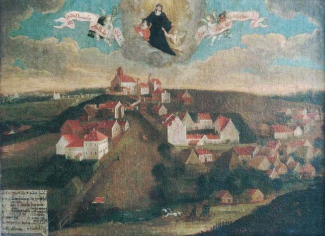 Ansicht von Gempfing, um 1740