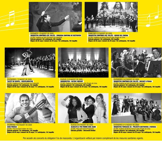 Festival de Música de la Cerdanya - Agenda