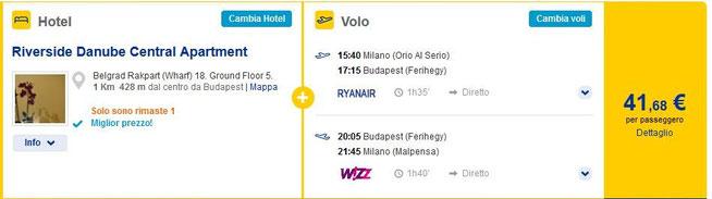 budapest pacchetto vacanza hotel e volo