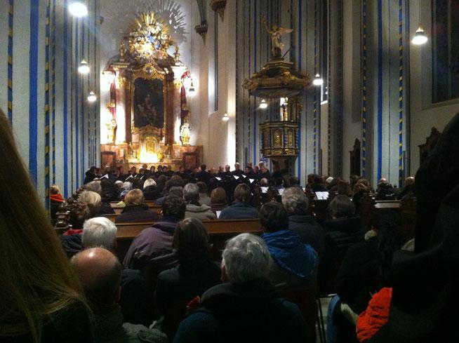 Konzert des Bonner Vokalensembles in der Namen-Jesu-Kirche, Bonn, am 16. November 2013