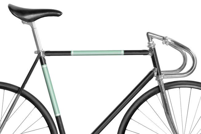 Fahrrad reflektierende Folie Gletscherblau