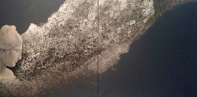 Tesori - Marta Czok, 2011 - acrilico, grafite e china su tela.