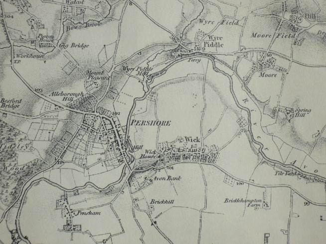 Pershore before the railways.