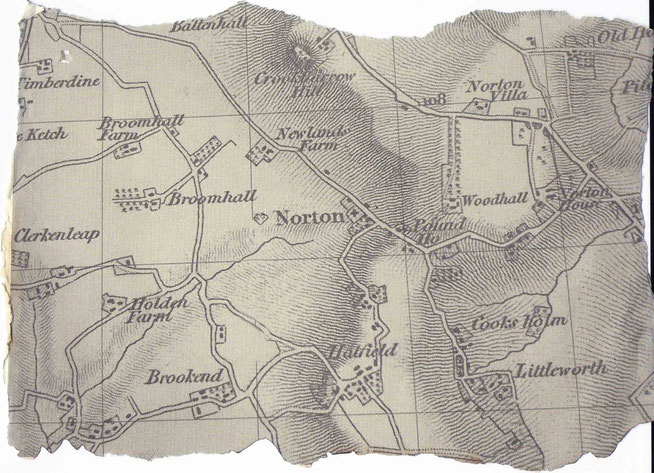 Norton in the first half of the 19th century, note no motorway and no railway!