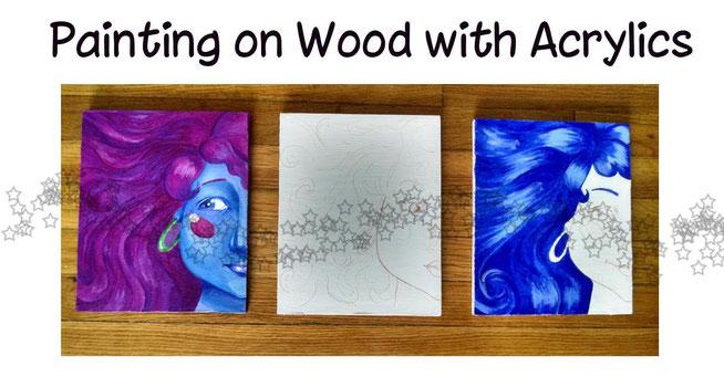 tutorial · acryliconpanel · traditionalart · acrylicpainting · acrylictutorial · paintingwithacrylicsonwood · translucidevrsopaque · paint