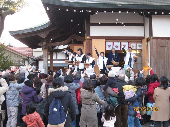 平成28年 節分祭 豆まき 尼崎市 皇大神社