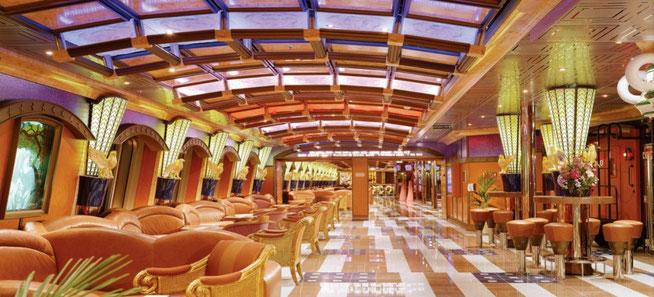 Carnival Valor - Cruise ship interior concourse