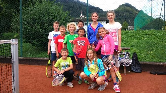 Teilnehmer Tennisintensivkurs