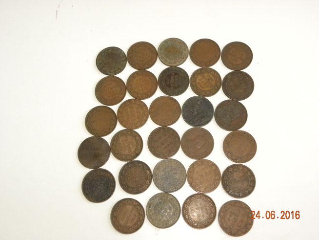 Lot de 1 cent 2x1876,1902,1903,2x1906,1908,2x1909,2x1910,4x1911,3x1912,4x1913,4x1914,2x1915,1916