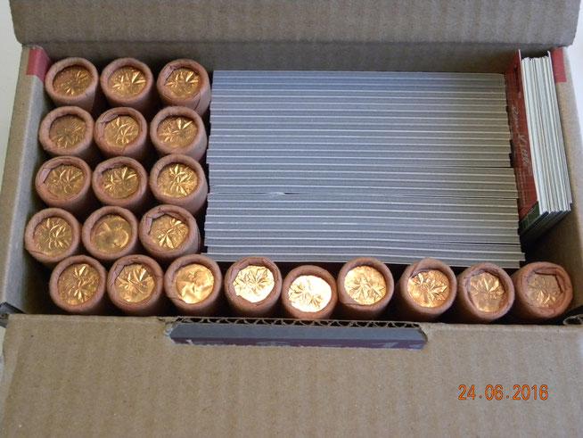Rouleaux 1 cent 1964 Jamais ouvert  16$ch.  et 2 rouleaux à 10$ que j'ai ouvert pour voir l'état des pièces à l'intérieur