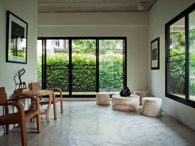 Couloir Gris et Blanc - Déco Couloir - Meuble Couloir - Maison Contemporaine