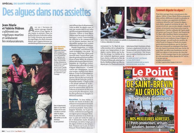 Le Point, jeudi 7 août 2014