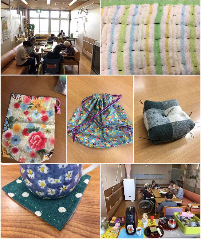 新たに始まった「お針クラブ」。職人たちが創り上げる一つひとつの作品が次々と完成すると、昭和の香りに包まれました