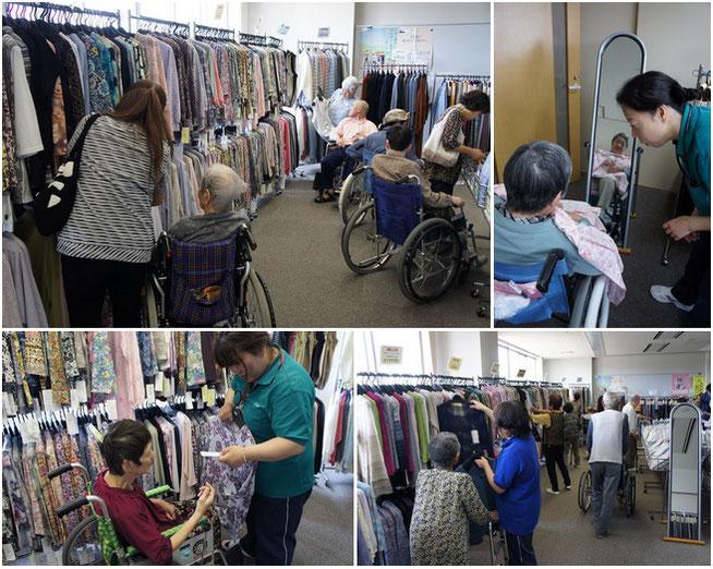 昨年末に続き2度目の開催となった「出張・うみまち衣料品店」。夏物衣料を中心に、飛ぶように売れていきました