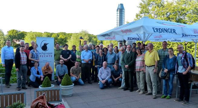 Mehr als 60 Spechtforscher aus Deutschland, Österreich und der Schweiz haben sich in Ascheberg getroffen (Foto: C. Preuß)