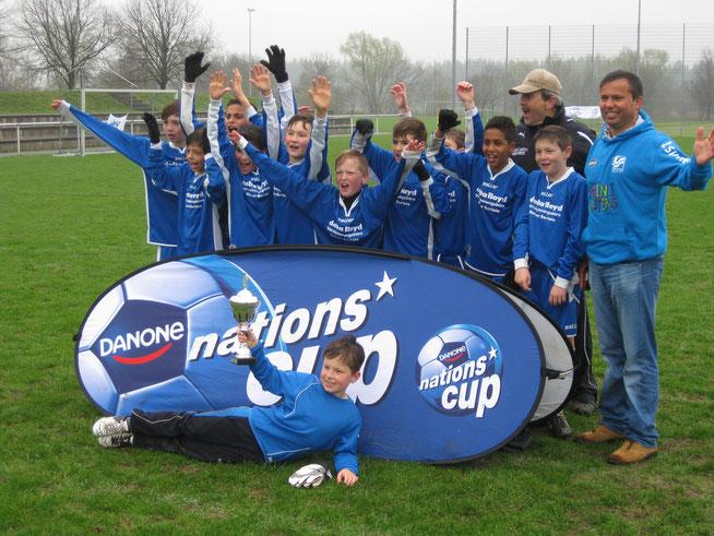 Die glücklichen Sieger 2013 des TSV Neu-Ulm